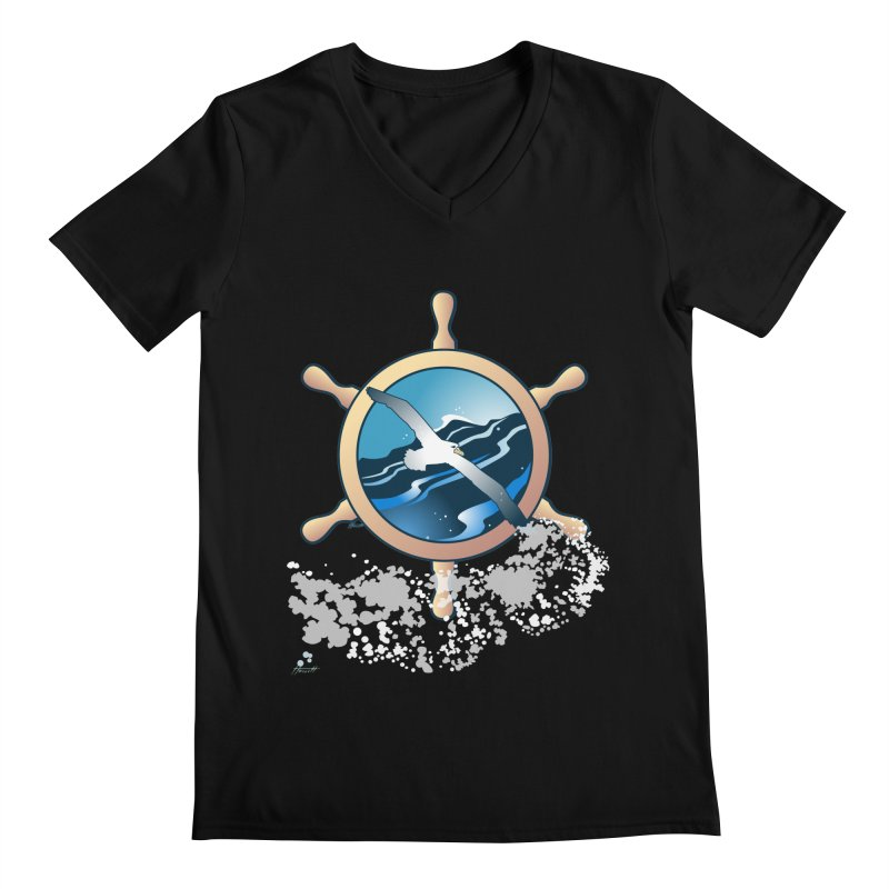 Albatross Men's V-Neck by Patricia Howitt's Artist Shop