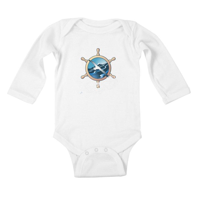 Albatross Kids Baby Longsleeve Bodysuit by Patricia Howitt's Artist Shop