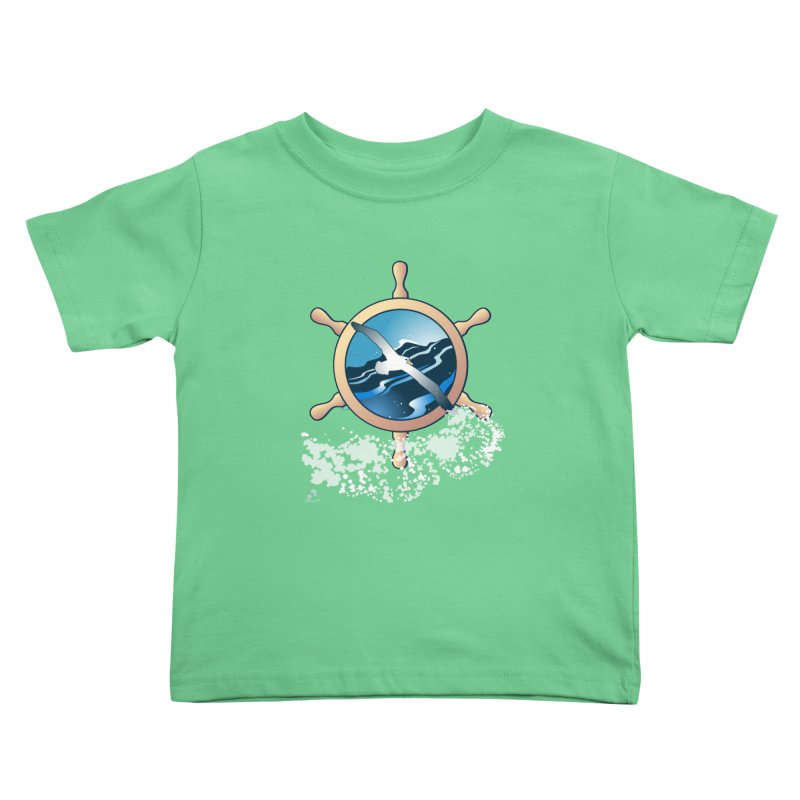 Albatross Kids Toddler T-Shirt by Patricia Howitt's Artist Shop
