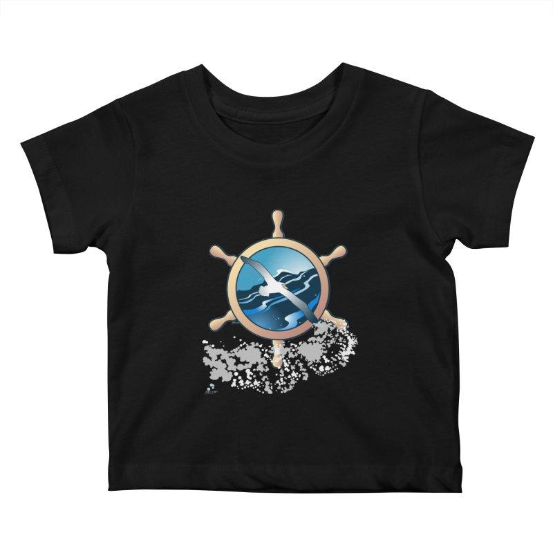 Albatross Kids Baby T-Shirt by Patricia Howitt's Artist Shop