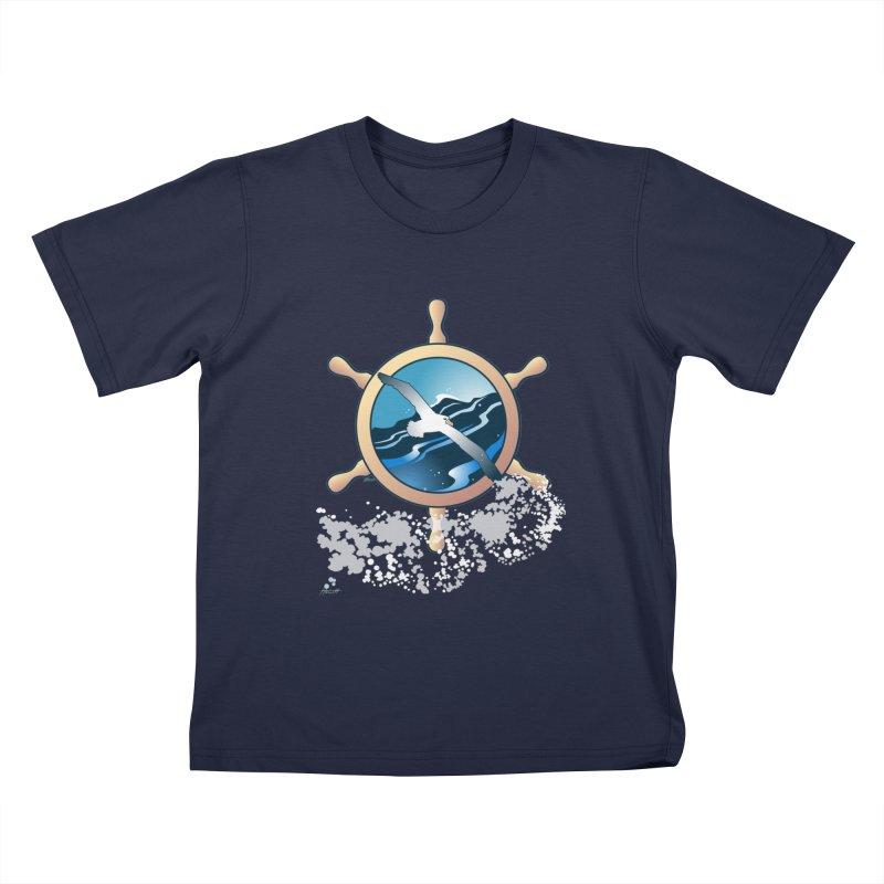 Albatross Kids T-Shirt by Patricia Howitt's Artist Shop