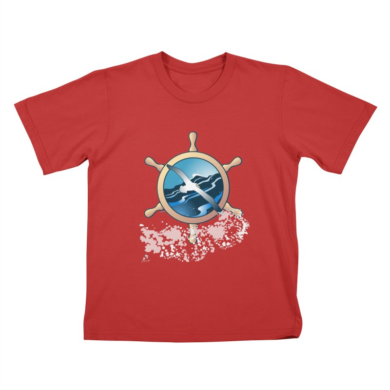 Albatross Kids T-shirt by Patricia Howitt's Artist Shop