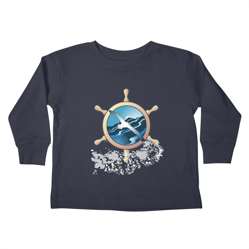 Albatross Kids Toddler Longsleeve T-Shirt by Patricia Howitt's Artist Shop