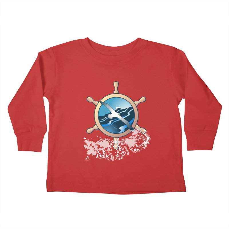 Albatross Kids Toddler Longsleeve T-Shirt by Patricia Howitt's Artist Shop