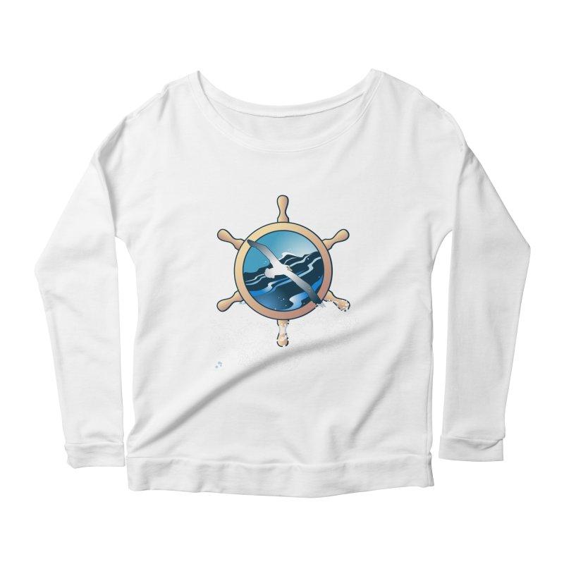 Albatross Women's Scoop Neck Longsleeve T-Shirt by Patricia Howitt's Artist Shop