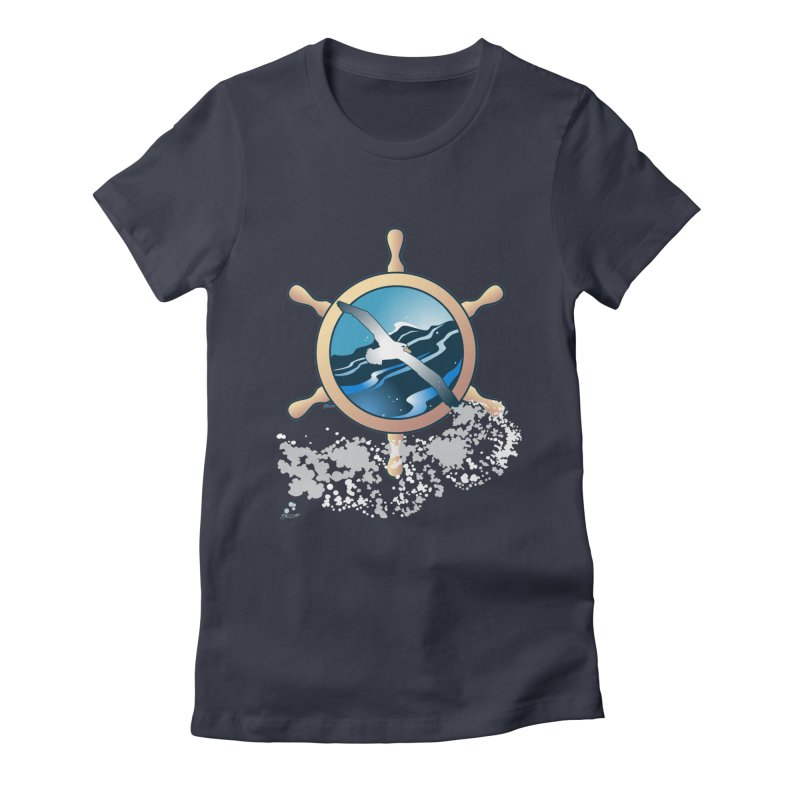Albatross Women's Fitted T-Shirt by Patricia Howitt's Artist Shop