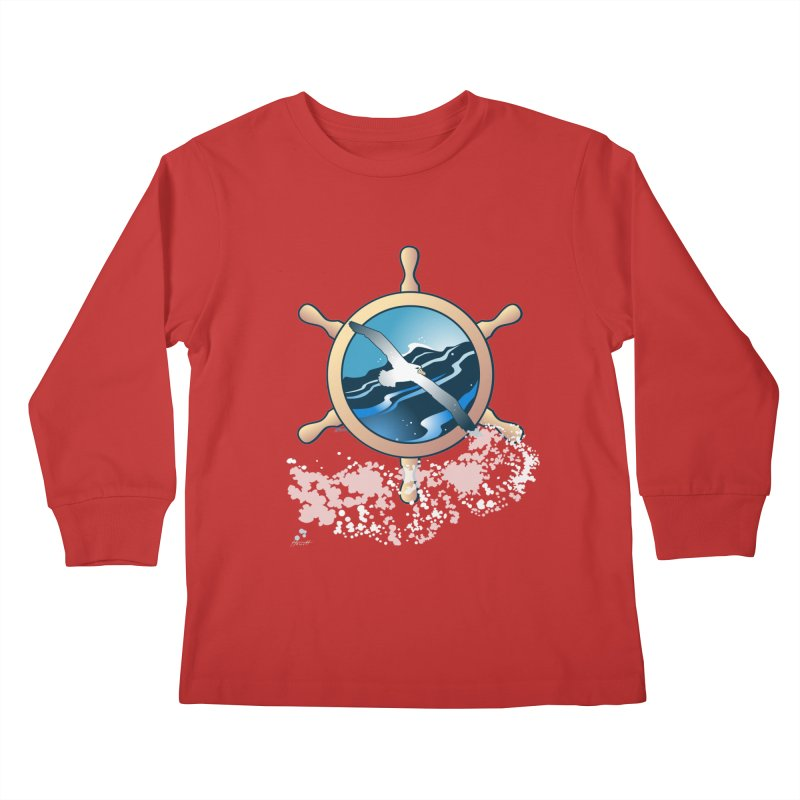 Albatross Kids Longsleeve T-Shirt by Patricia Howitt's Artist Shop