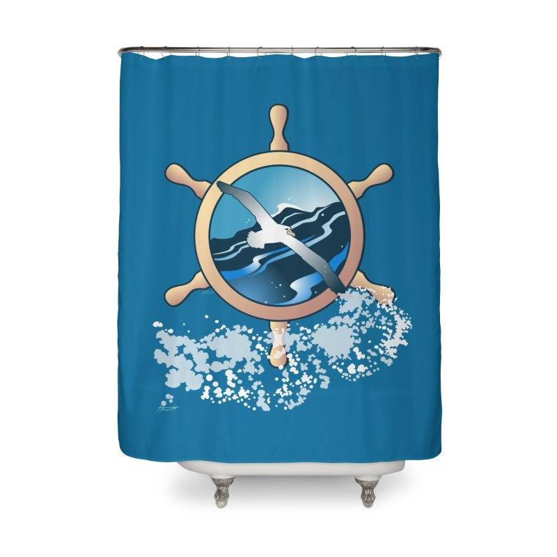 Albatross Home Shower Curtain by Patricia Howitt's Artist Shop