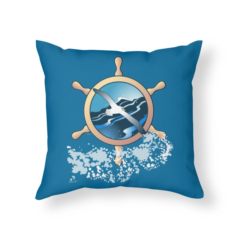 Albatross Home Throw Pillow by Patricia Howitt's Artist Shop