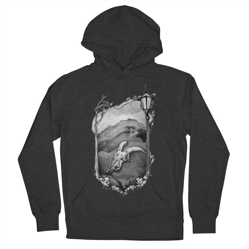 Hello Darkness Men's French Terry Pullover Hoody by Patricia Howitt's Artist Shop