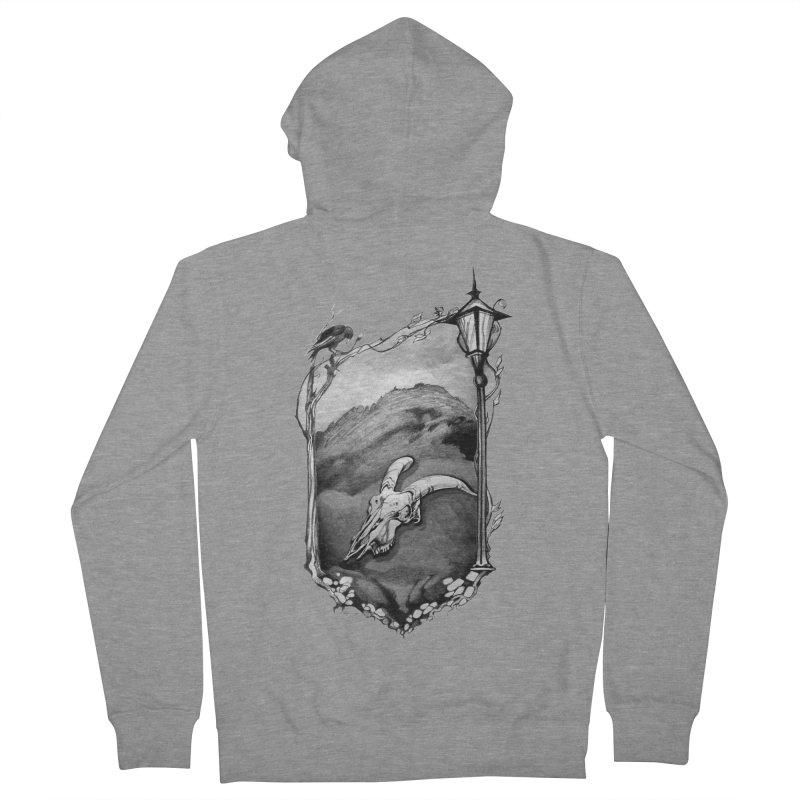 Hello Darkness Men's French Terry Zip-Up Hoody by Patricia Howitt's Artist Shop