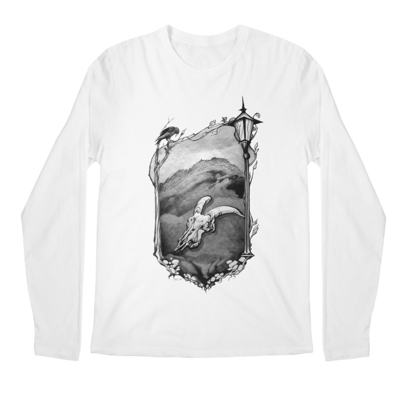 Hello Darkness Men's Regular Longsleeve T-Shirt by Patricia Howitt's Artist Shop