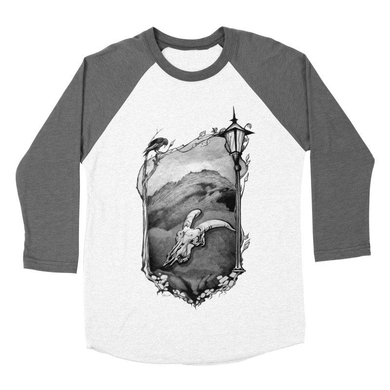 Hello Darkness Men's Baseball Triblend Longsleeve T-Shirt by Patricia Howitt's Artist Shop