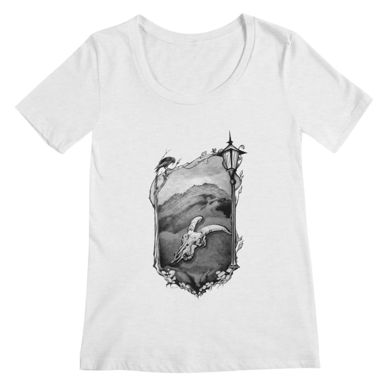 Hello Darkness Women's Regular Scoop Neck by Patricia Howitt's Artist Shop