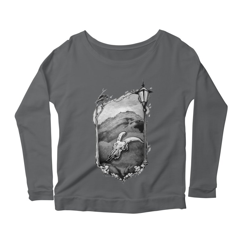 Hello Darkness Women's Scoop Neck Longsleeve T-Shirt by Patricia Howitt's Artist Shop