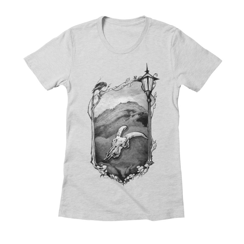 Hello Darkness Women's Fitted T-Shirt by Patricia Howitt's Artist Shop