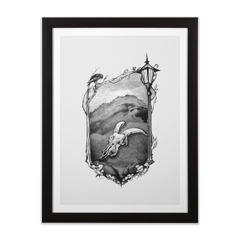 Hello Darkness Home Framed Fine Art Print by Patricia Howitt's Artist Shop