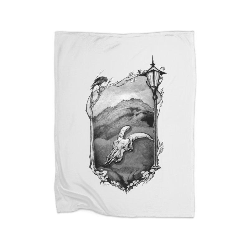 Hello Darkness Home Fleece Blanket Blanket by Patricia Howitt's Artist Shop