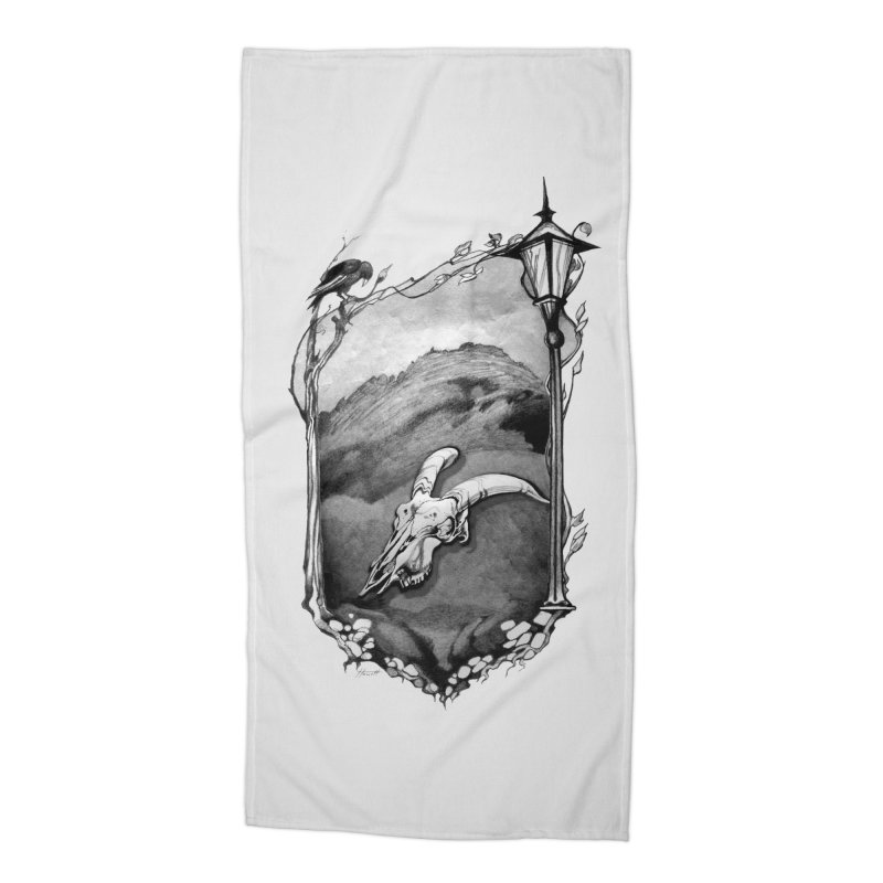 Hello Darkness Accessories Beach Towel by Patricia Howitt's Artist Shop