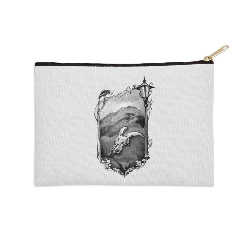 Hello Darkness Accessories Zip Pouch by Patricia Howitt's Artist Shop