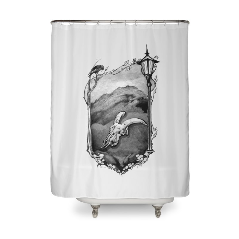 Hello Darkness Home Shower Curtain by Patricia Howitt's Artist Shop