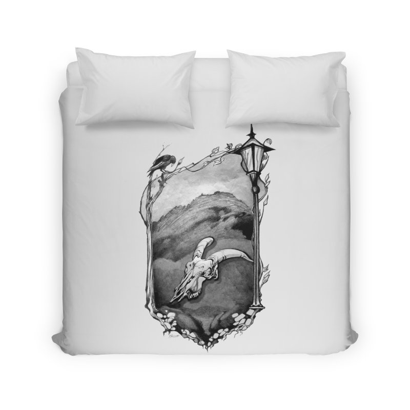 Hello Darkness Home Duvet by Patricia Howitt's Artist Shop