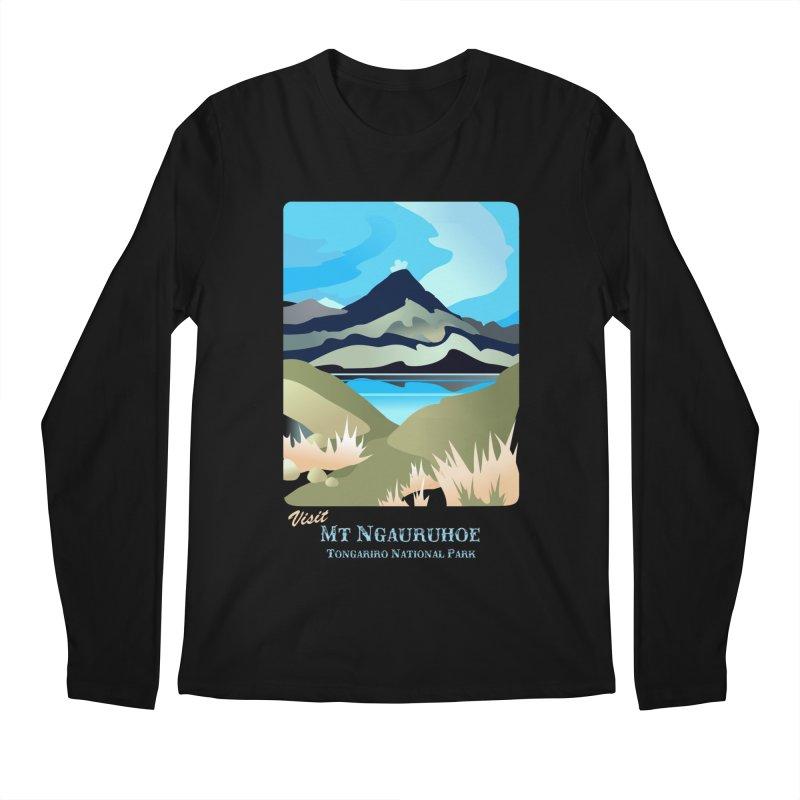 Tama Lakes Magic Men's Regular Longsleeve T-Shirt by Patricia Howitt's Artist Shop