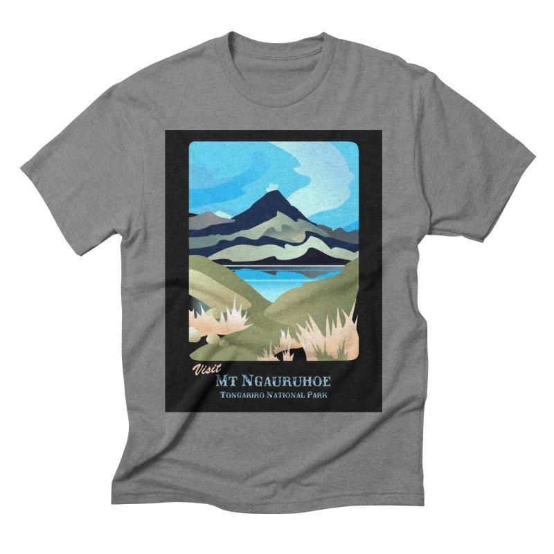 Tama Lakes Magic Men's Triblend T-Shirt by Patricia Howitt's Artist Shop