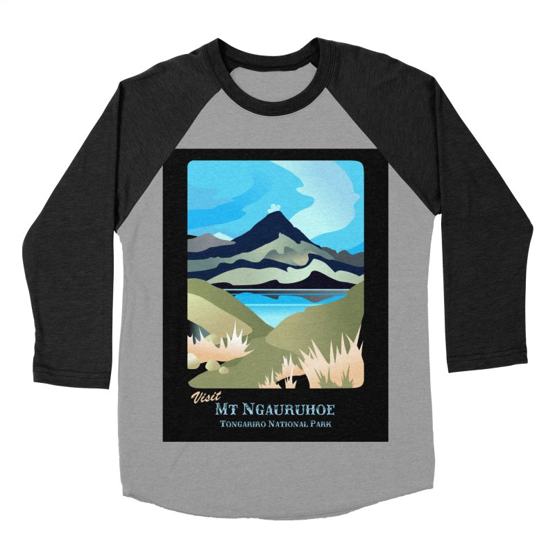 Tama Lakes Magic Women's Baseball Triblend Longsleeve T-Shirt by Patricia Howitt's Artist Shop