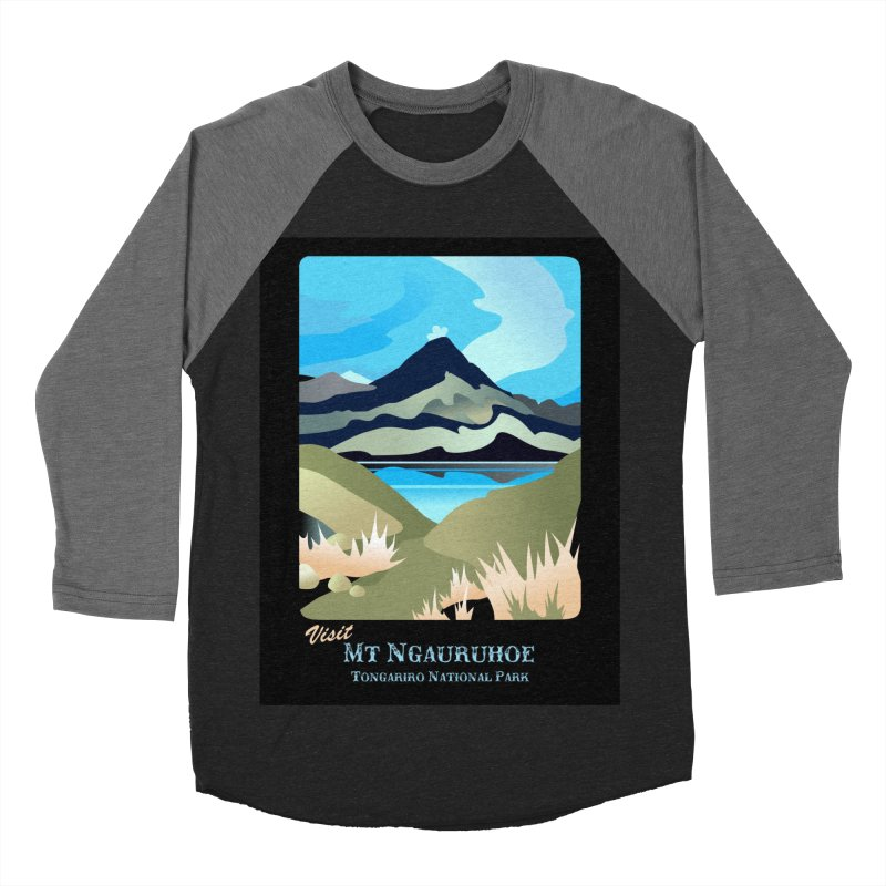 Tama Lakes Magic Men's Baseball Triblend T-Shirt by Patricia Howitt's Artist Shop