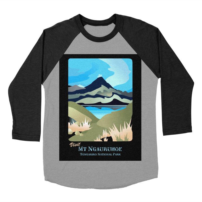 Tama Lakes Magic Men's Baseball Triblend Longsleeve T-Shirt by Patricia Howitt's Artist Shop