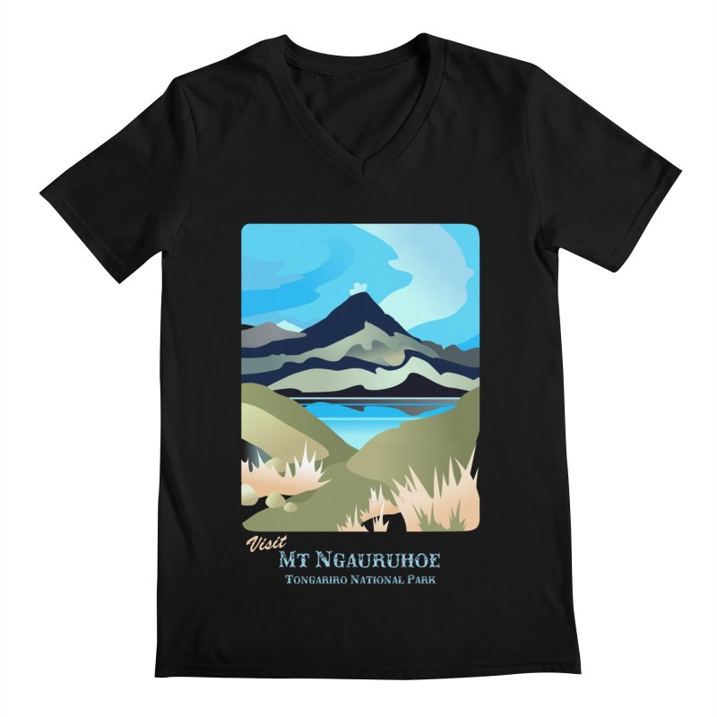 Tama Lakes Magic Men's V-Neck by Patricia Howitt's Artist Shop