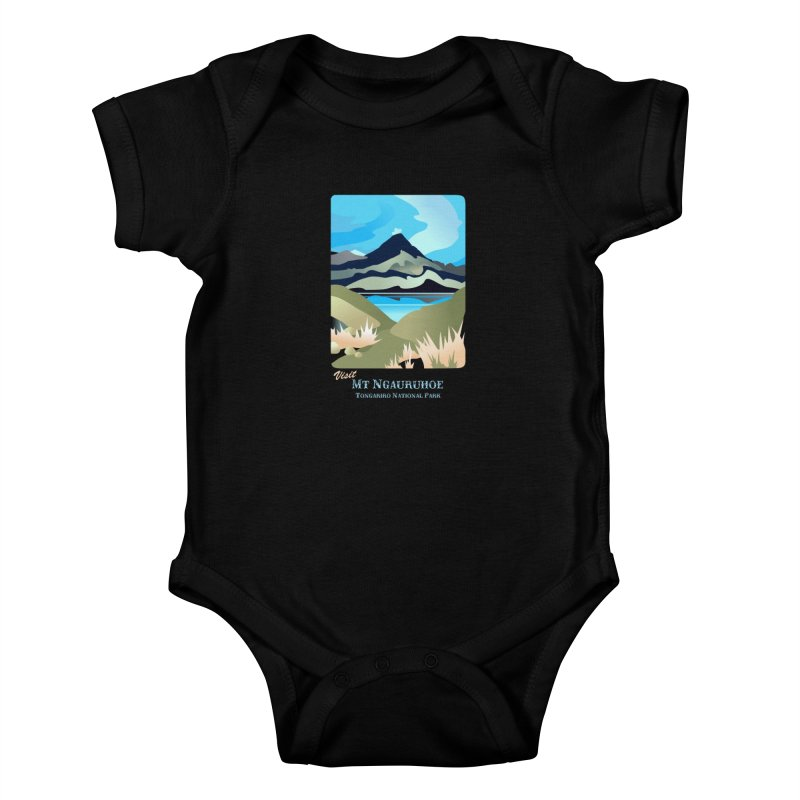 Tama Lakes Magic Kids Baby Bodysuit by Patricia Howitt's Artist Shop