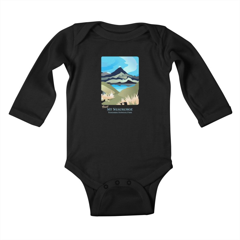 Tama Lakes Magic Kids Baby Longsleeve Bodysuit by Patricia Howitt's Artist Shop