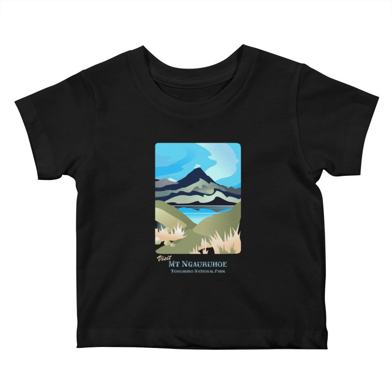 Tama Lakes Magic Kids Baby T-Shirt by Patricia Howitt's Artist Shop