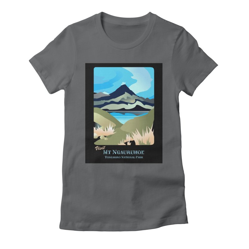 Tama Lakes Magic Women's Fitted T-Shirt by Patricia Howitt's Artist Shop