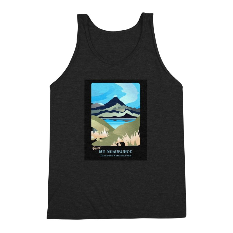 Tama Lakes Magic Men's Triblend Tank by Patricia Howitt's Artist Shop