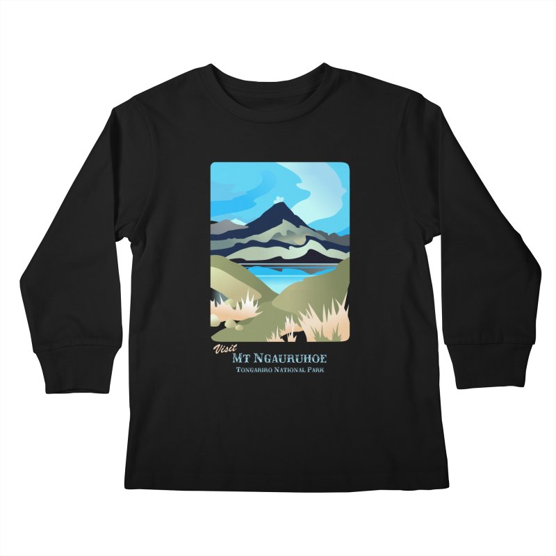 Tama Lakes Magic Kids Longsleeve T-Shirt by Patricia Howitt's Artist Shop