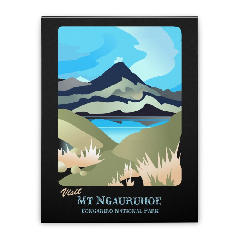 Tama Lakes Magic Home Stretched Canvas by Patricia Howitt's Artist Shop