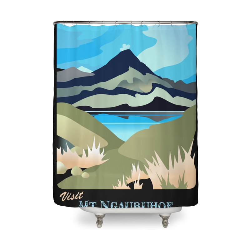 Tama Lakes Magic Home Shower Curtain by Patricia Howitt's Artist Shop