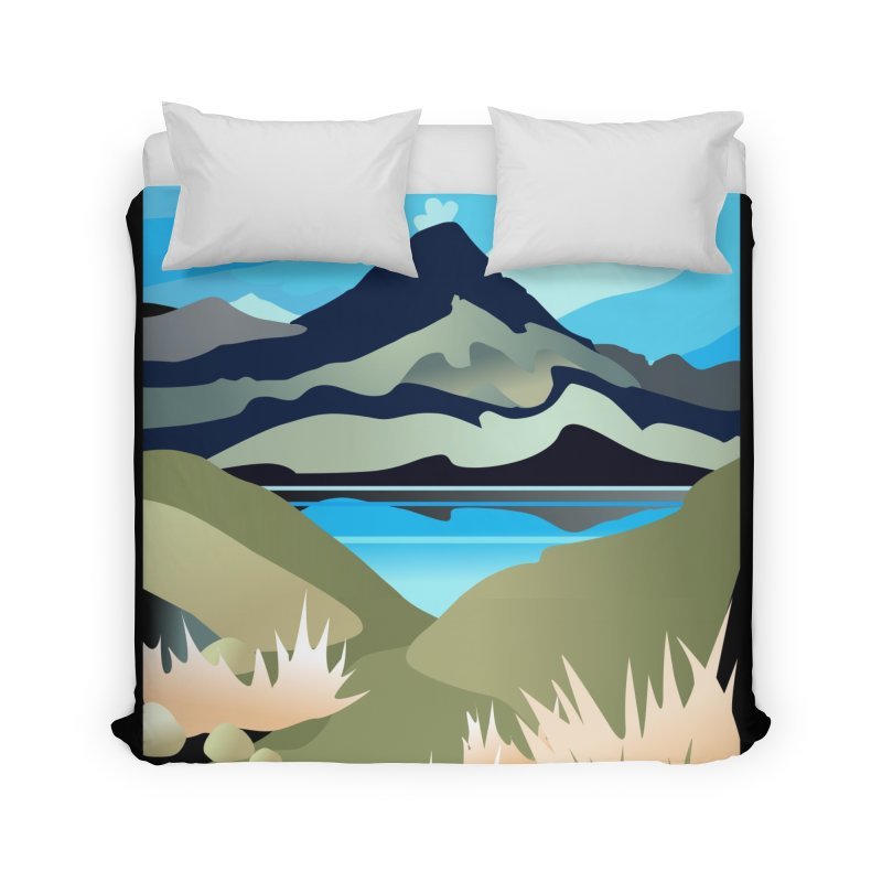 Tama Lakes Magic Home Duvet by Patricia Howitt's Artist Shop