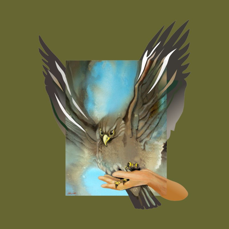 Eagles' Wings Men's T-Shirt by Patricia Howitt's Artist Shop