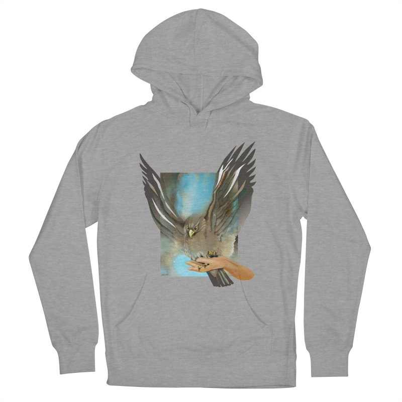 Eagles' Wings Women's French Terry Pullover Hoody by Patricia Howitt's Artist Shop