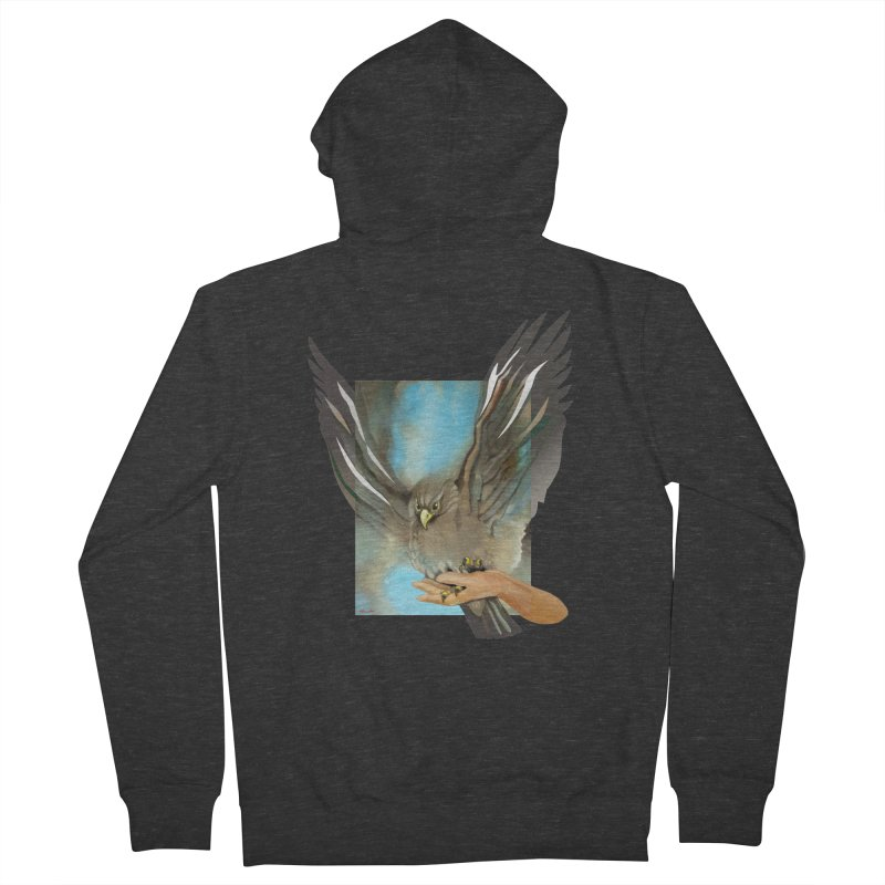 Eagles' Wings Men's French Terry Zip-Up Hoody by Patricia Howitt's Artist Shop