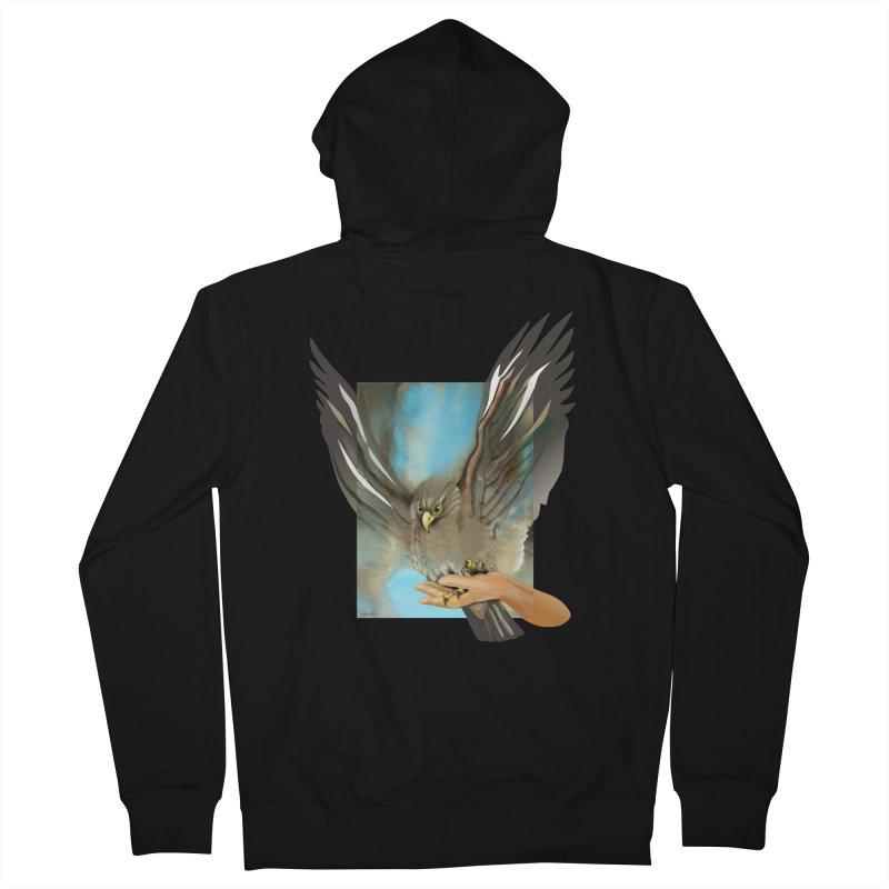 Eagles' Wings Men's Zip-Up Hoody by Patricia Howitt's Artist Shop