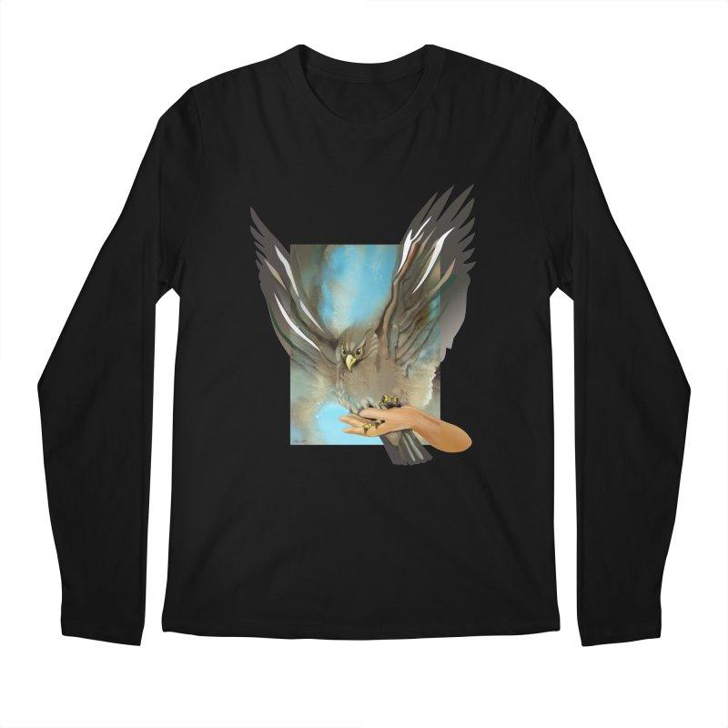 Eagles' Wings Men's Regular Longsleeve T-Shirt by Patricia Howitt's Artist Shop