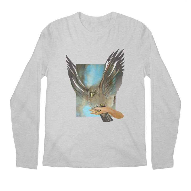Eagles' Wings Men's Longsleeve T-Shirt by Patricia Howitt's Artist Shop