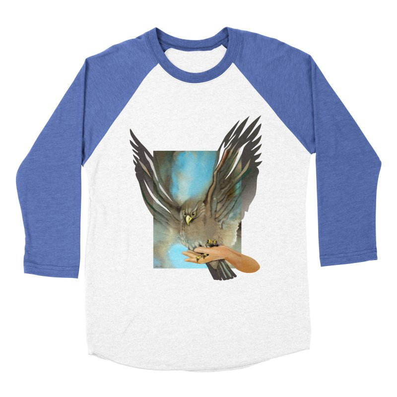 Eagles' Wings Women's Baseball Triblend Longsleeve T-Shirt by Patricia Howitt's Artist Shop