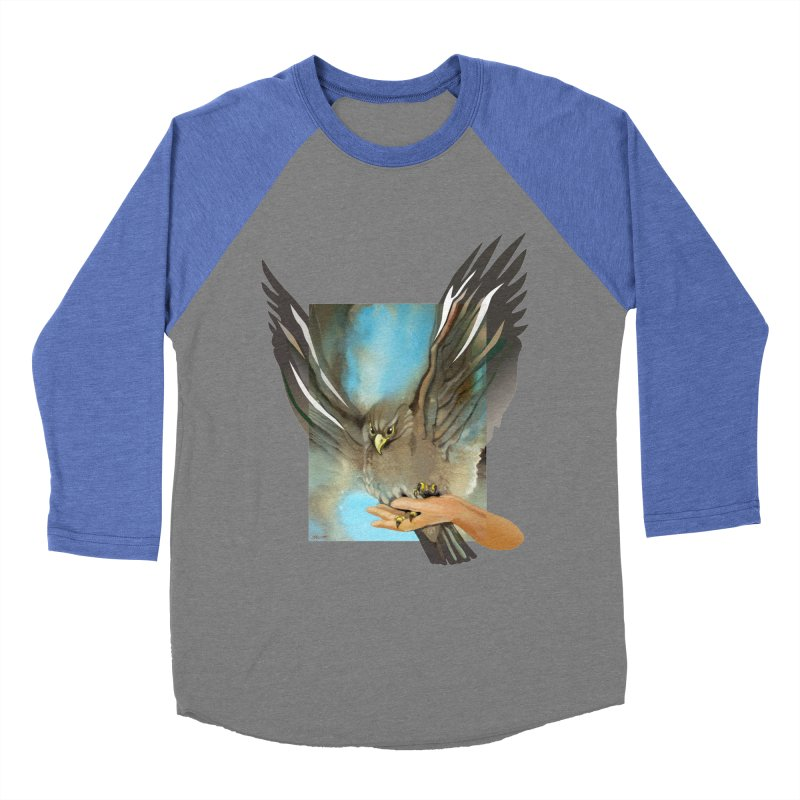 Eagles' Wings Women's Baseball Triblend T-Shirt by Patricia Howitt's Artist Shop