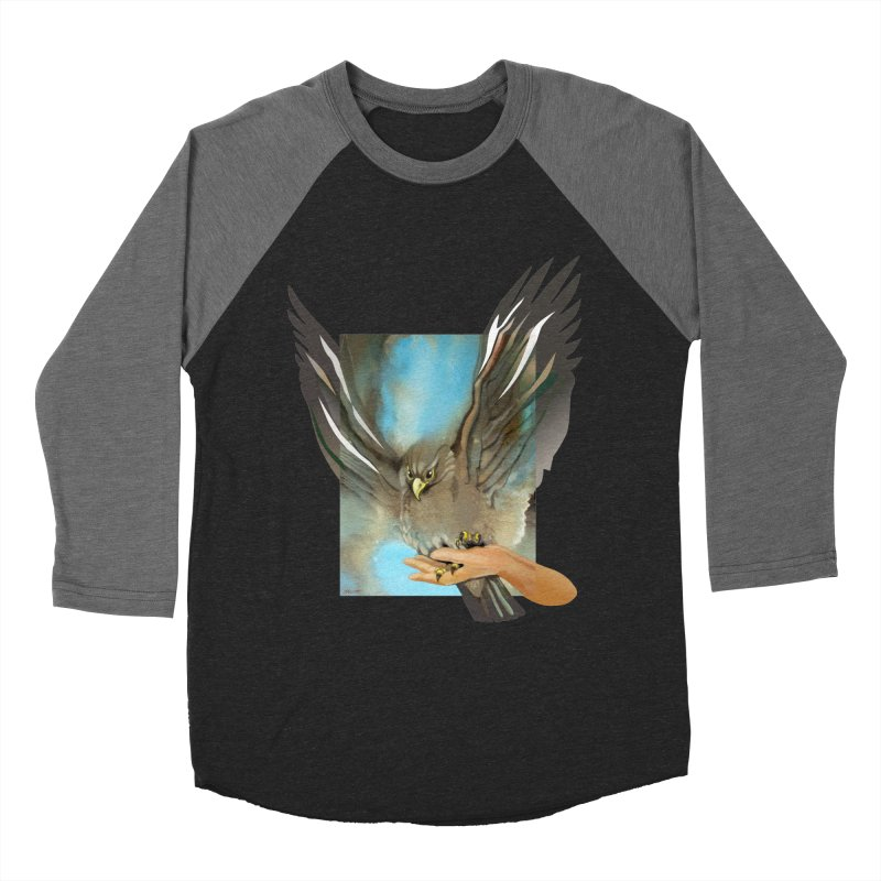 Eagles' Wings Men's Baseball Triblend T-Shirt by Patricia Howitt's Artist Shop